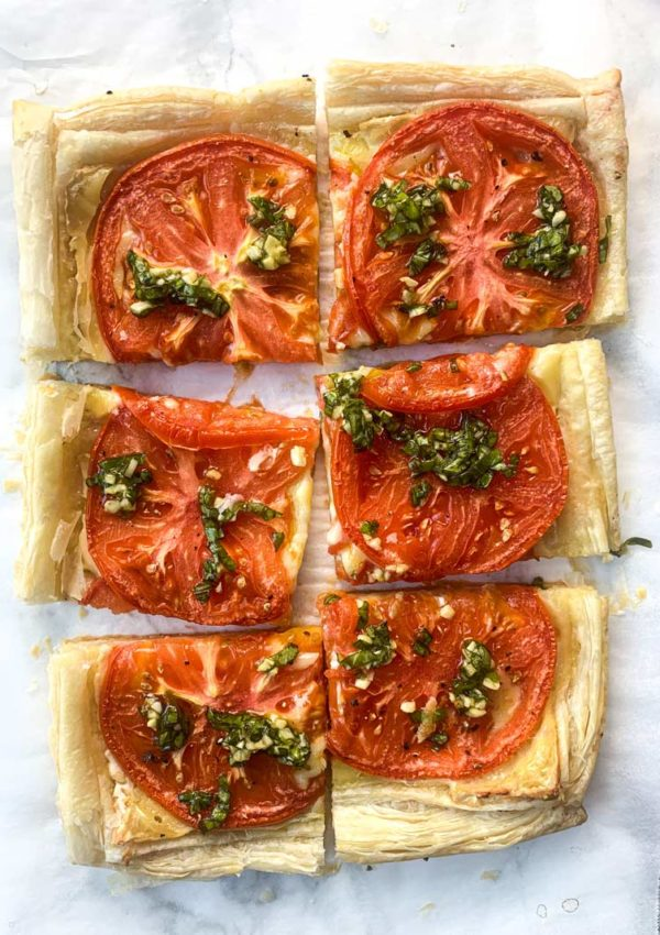 Roasted Tomato Tart with Brie and Basil